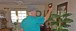 Ed Ebmeier, Mold Inspector, On the Job